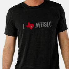 I Texas Music shirt design